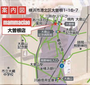 大倉山方面マップ